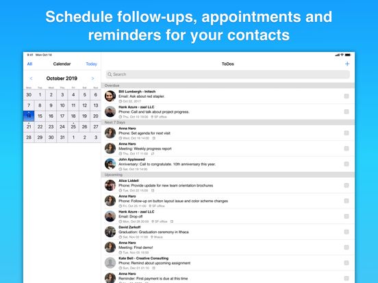 Screenshot #5 pour Contacts Journal CRM