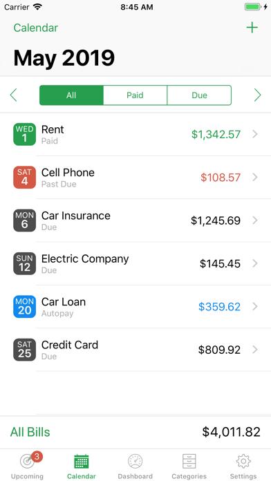 BillMinder® Screenshot