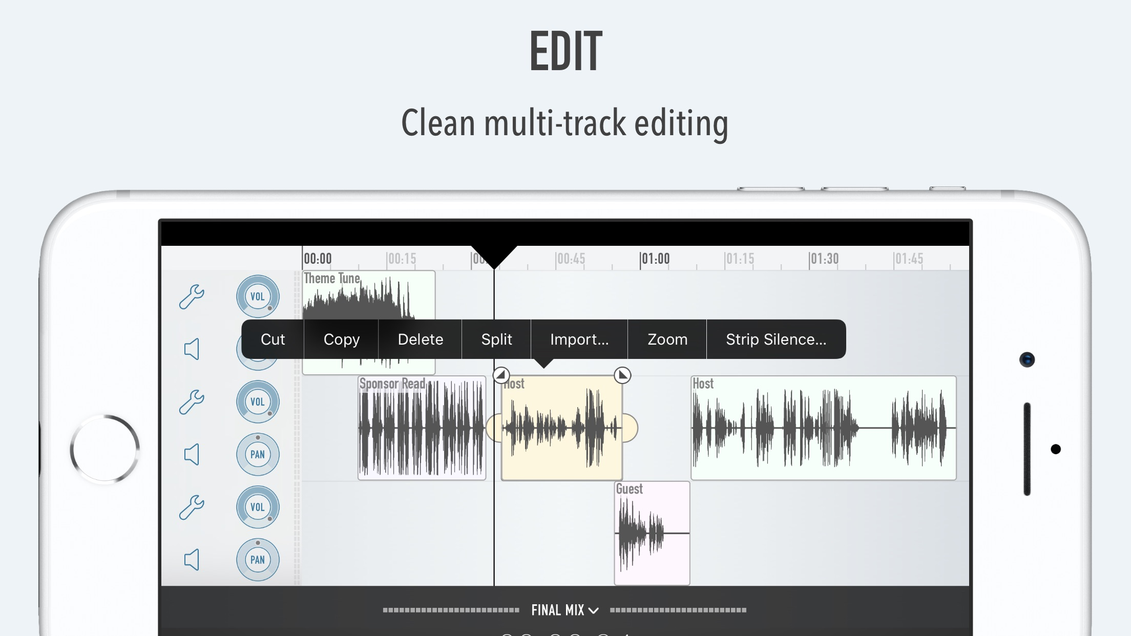 Ferrite Recording Studio Screenshot