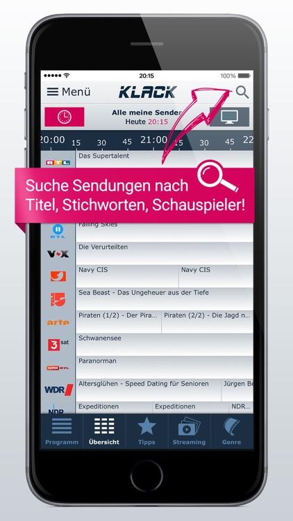 TV-Programm KLACK: Ihre TV-App