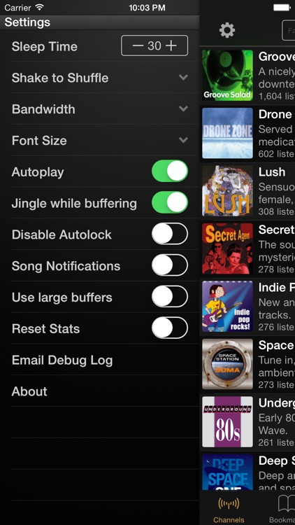 SomaFM Radio Player screenshot-2