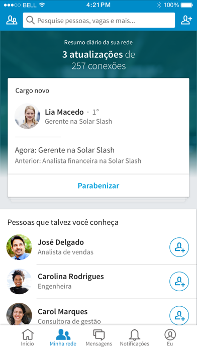 Screenshot for LinkedIn in Portugal App Store