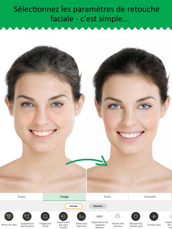application modifier visage