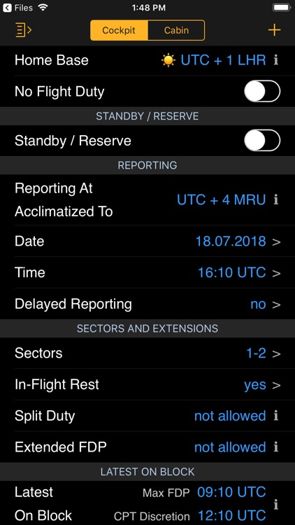 EASA FTL Calc screenshot-5