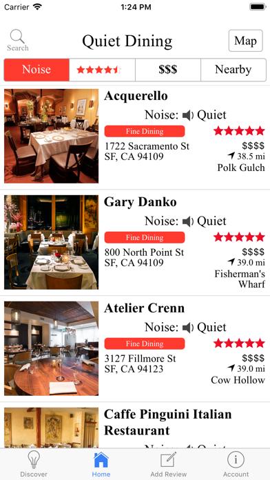 Quiet Dining screenshot three