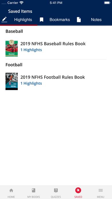 NFHS Rules Screenshot