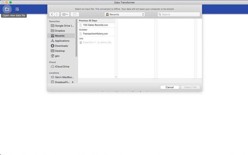 Data Transformer for Mac