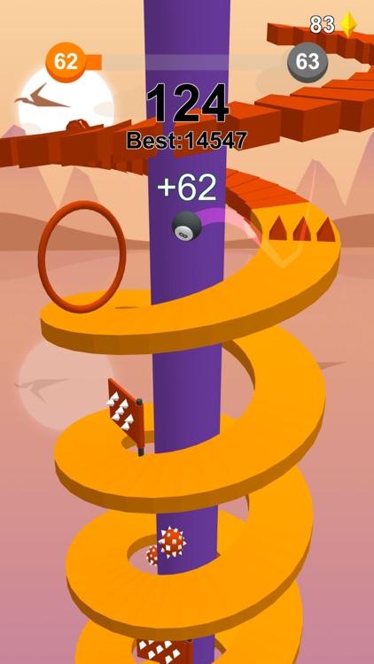 Jump Ball-Bounce On Tower Tile screenshot-4
