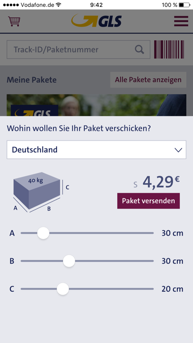Screenshot for GLS in Austria App Store