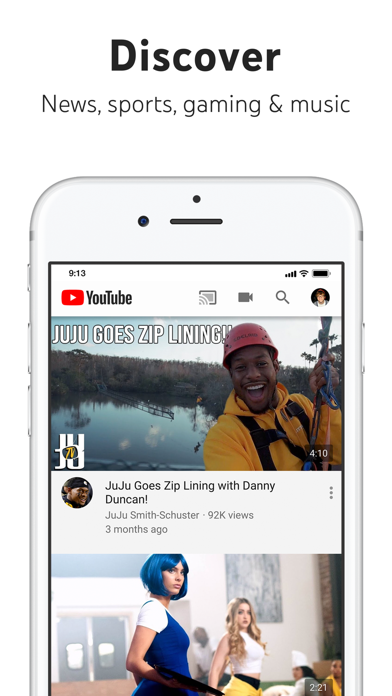 YouTube: Watch, Listen, Stream Screenshot on iOS