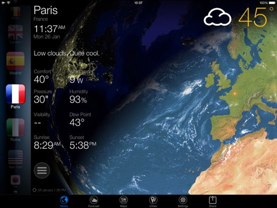 Screenshot #5 pour 3D Earth - widget météo