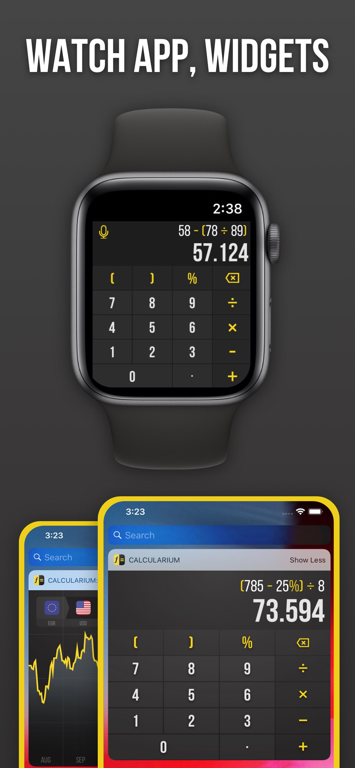Watch App, Widgets