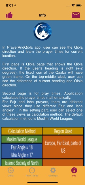 Qibla and Prayer Times on the App Store