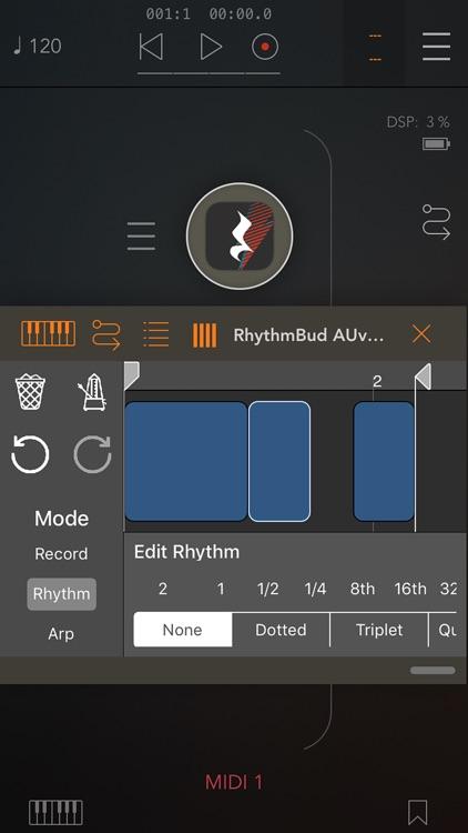 RhythmBud - AUv3 MIDI FX screenshot-0