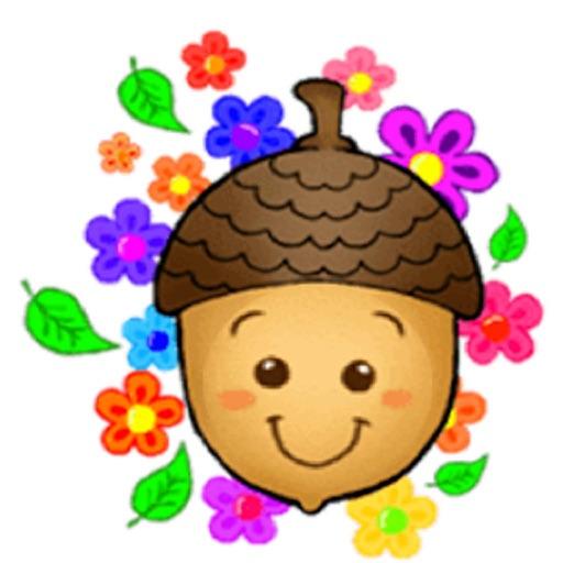 Cute Acorn AcornMoji Sticker