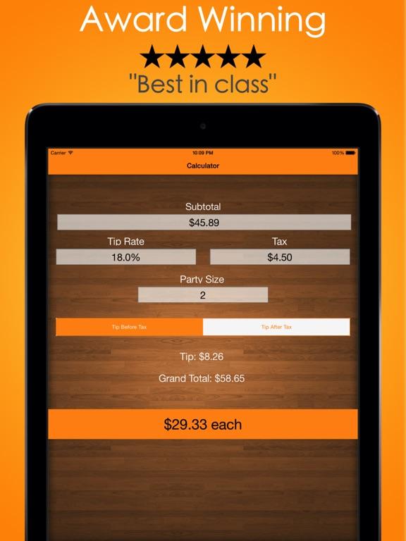 Tip Check - Tip Calculator, Free Tipping Guide, & Bill Split screenshot