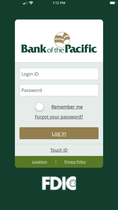 Bank of the Pacific MobileScreenshot of 1