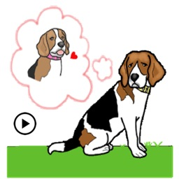 Animated Cute Beagle Stickers