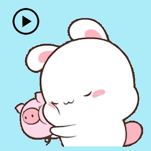 Animated Bunny And Tiny Pig