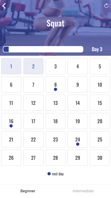 30日スクワットチャレンジのおすすめ画像2