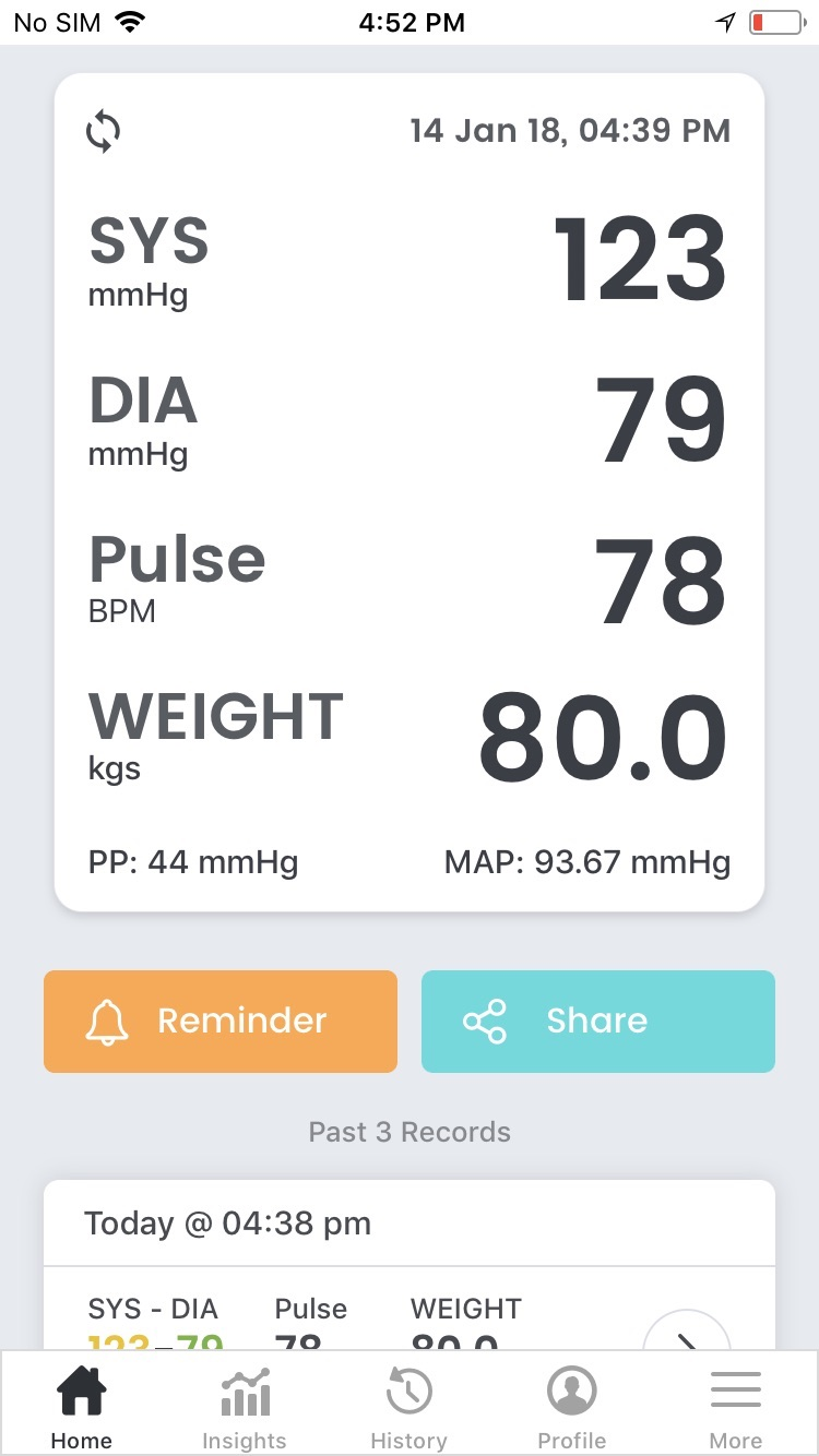 SmartBP - Smart Blood Pressure Screenshot
