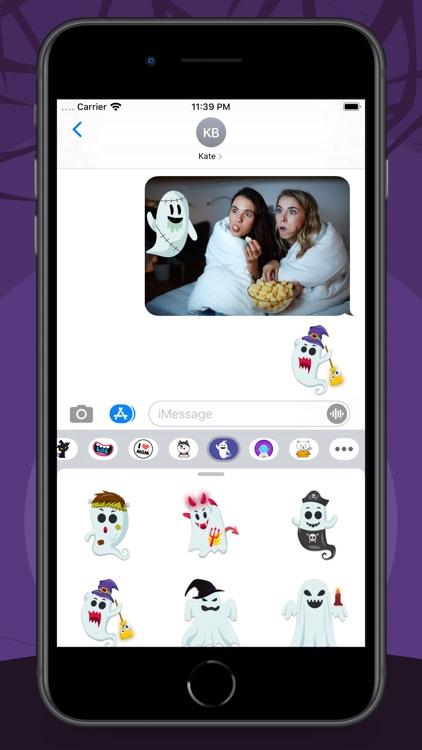Spooky Halloween Ghost Sticker screenshot-5