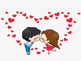 The RomanceKAT is a small sticker, which are show the 45 Romance sticker in cartoon