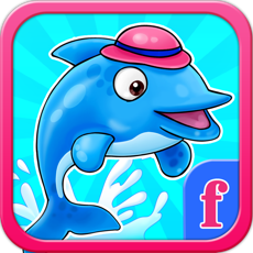Activities of Little Dolphin Really fun Collecting Hooks Game : Free Girly Fish games for girls and boys