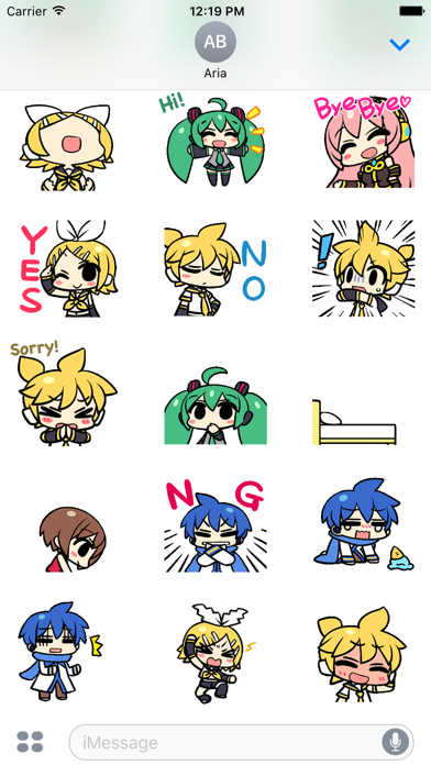 Animated Miku And Gang Sticker screenshot 3