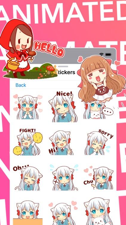 Animated Girls Stickers