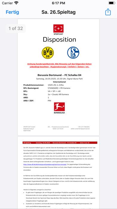 Sportcast - Dispo-AppScreenshot von 4