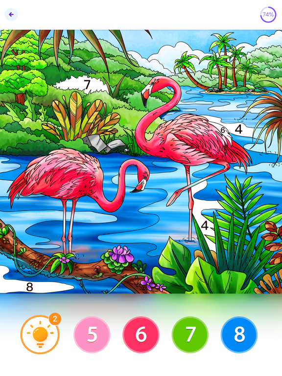 iPad Image of Coloring Fun : Color by Number