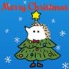 Merry Christmas And Hedgehog