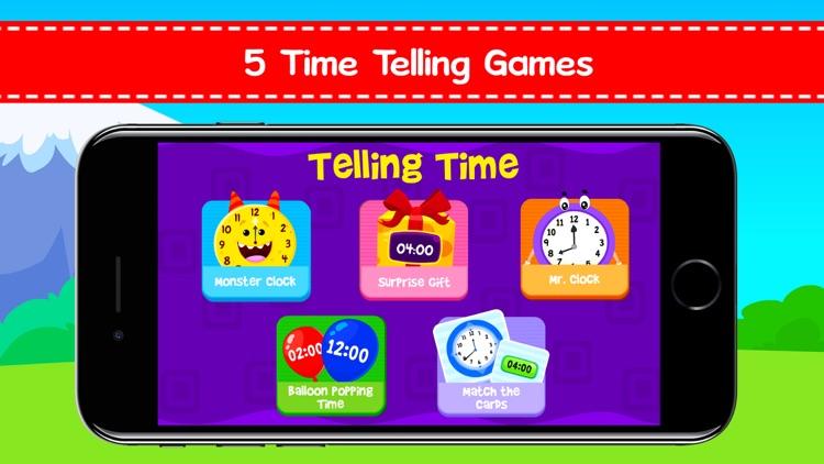 Telling Time Games For Kids screenshot-0