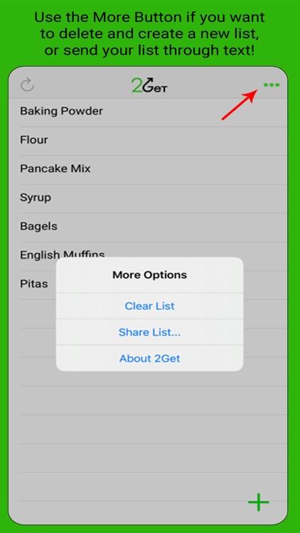 2Get - Grocery List screenshot-4