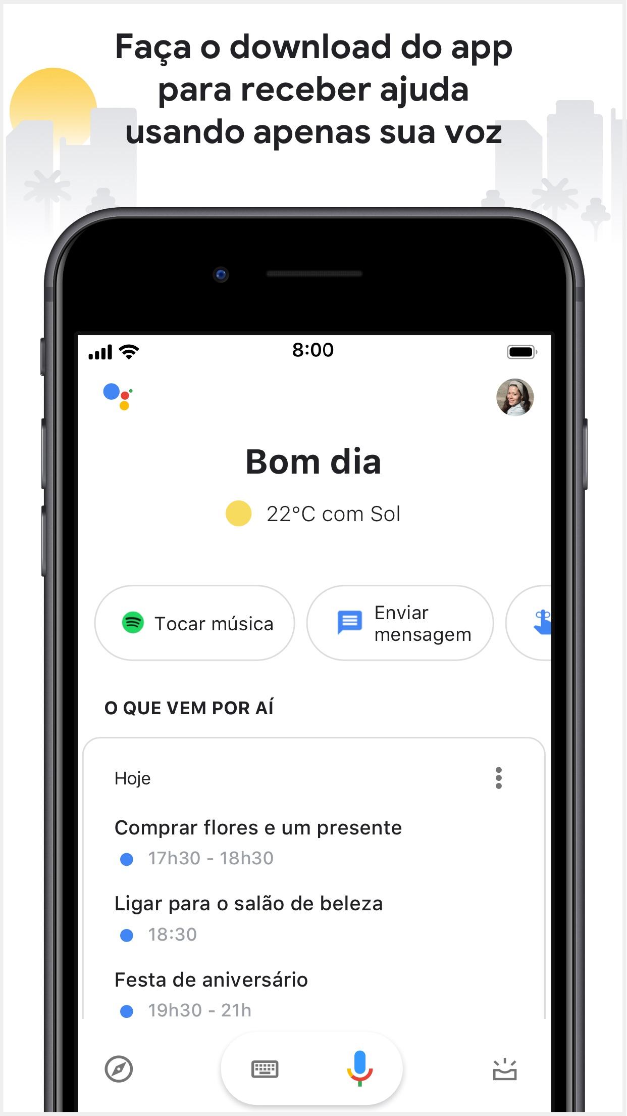 Screenshot do app Google Assistente