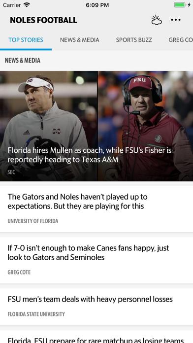 News for Noles Football Screenshot