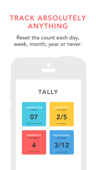 Tally: The Anything Tracker screenshot