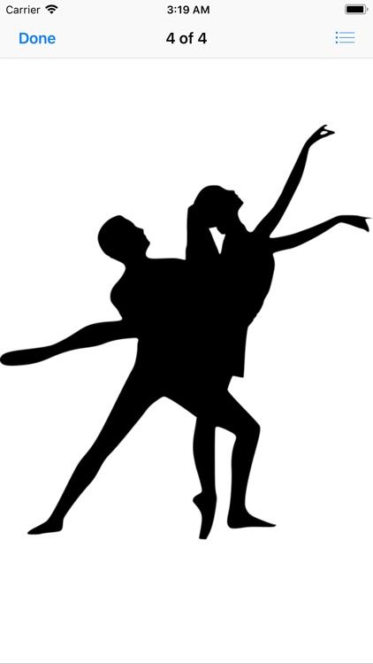 Dance Silhouette Stickers screenshot-5