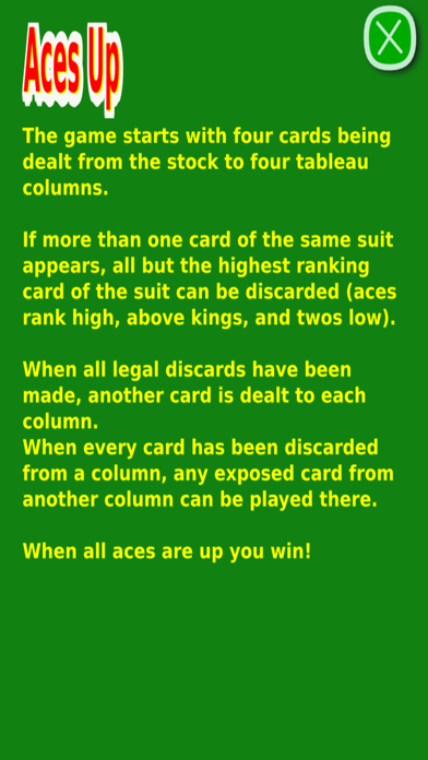 Classic Aces Up Solitaire UN screenshot 2