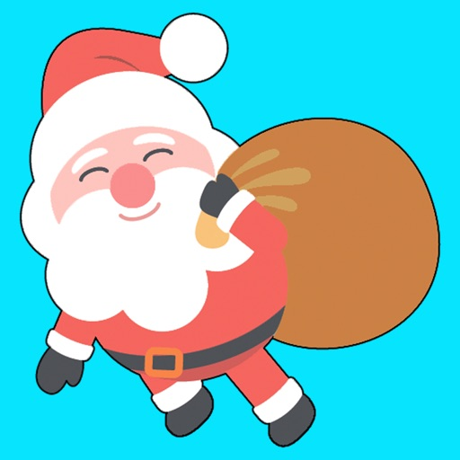 Funny Santa Claus - stickers