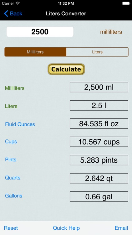 Volume & Weight Converter Calc screenshot-4