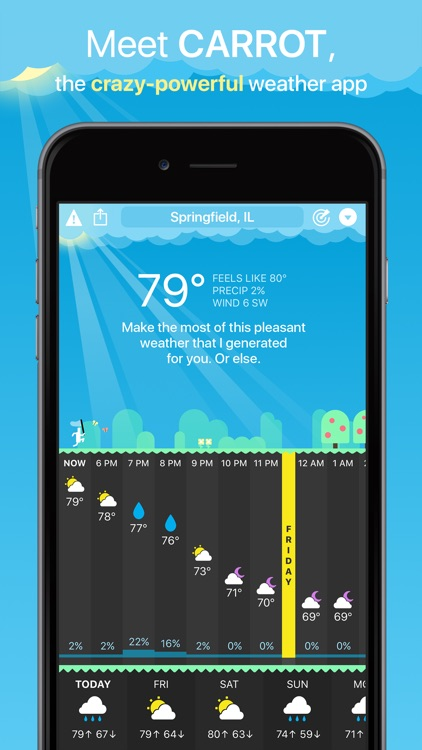 CARROT Weather screenshot-1