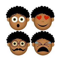 Afro Black Emoji Stickers