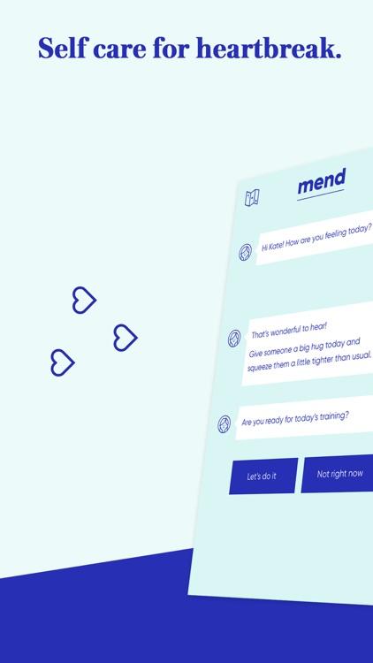 Mend: Self Care For Breakups screenshot-0