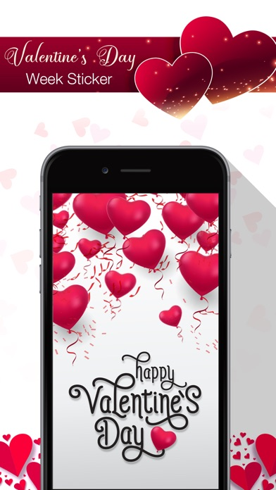 Screenshot for Valentine's Day Week Stickers in United States App Store