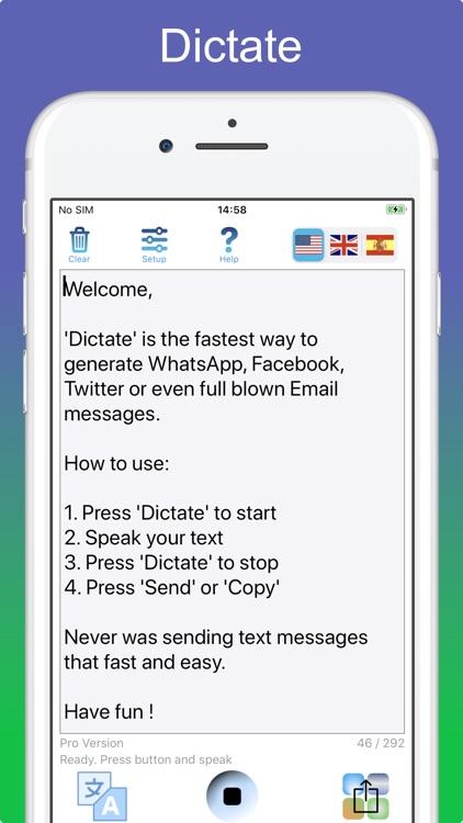 Dictate Pro - Speech to text screenshot-4