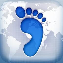Ícone do app Footprint - Where I've Been