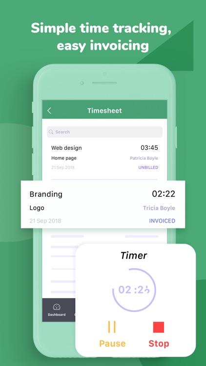 Invoice & Time Tracking - Zoho screenshot-3