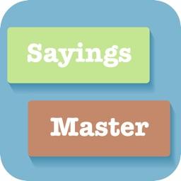 Proverbs & Sayings Master